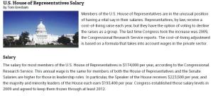 US House Salaries