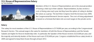 US House Salaries