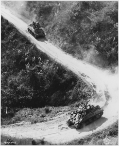 US Tanks in Support of China - 1945