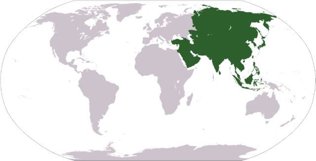 Asia Location Map